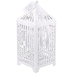 TALKING TABLES SOMETHING IN THE AIR WHITE Birdcage Post Box