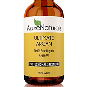100% PURE MOROCCAN ORGANIC VIRGIN ARGAN OIL from Azure Naturals, ULTIMATE ARGAN is 100% Pure Certified by Ecocert Virgin Argan Essential Oil That Will Immediately Start to Nourish Dry Skin,...