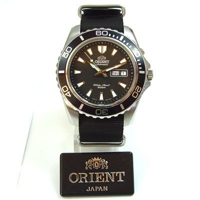 ORIENT Deep neue Version schwarz / Nato Band CEM75001B