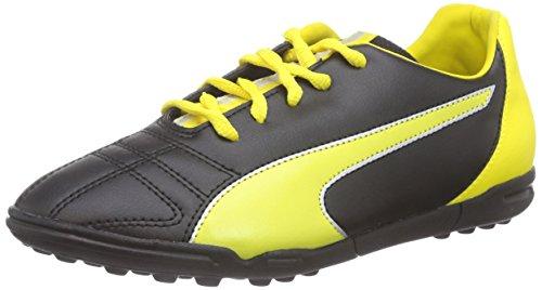 PumaMarco 11 TT Jr - Calcio scarpe da allenamento Unisex - bambino , Nero (Schwarz (black-vibrant yellow-puma silver 01)), 35