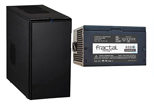 Bundle: Fractal Design Define R4 Computer Case Black Pearl With Usb 3.0 With 600W Essence Black Power Supply Unit