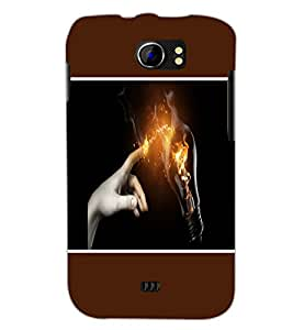 PrintDhaba Power Touch D-1277 Back Case Cover for MICROMAX A110 CANVAS 2 (Multi-Coloured)