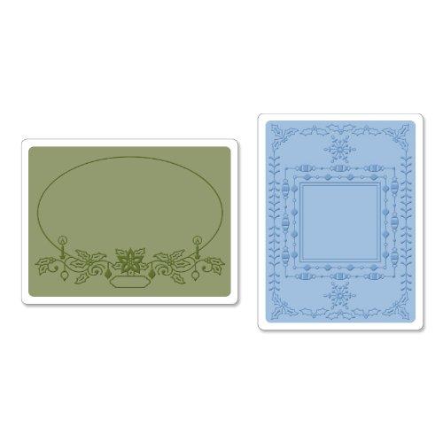 Sizzix vacanza Frames Set da Jen Long-Phil strutturato Impressioni Cartelle goffratura, Confezione da 2, multicolore