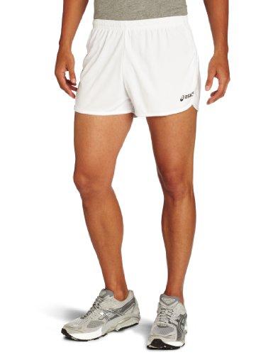 ASICS Asics Men's Interval 1/2 Split Short, Small, White/White