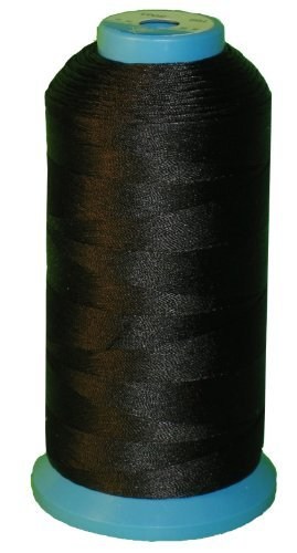 Find Discount Black Bonded Nylon Sewing Thread 1500 Yard Size T70 #69 for the Upholstery, Outdoor Ma...