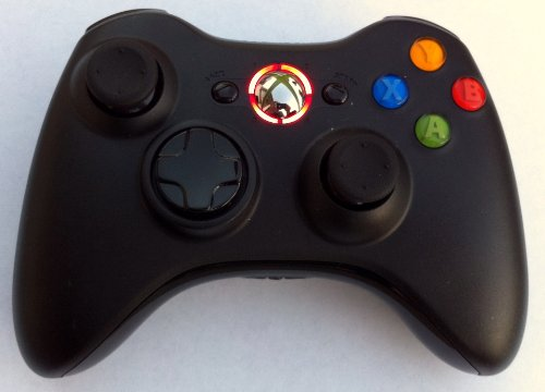 Black Xbox 360 Modded Controller 10 Mode Rapid Fire Wireless With Red Led For Cod Advanced Warfare