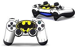 PS4 controller skin ( sticker ) of batman white yellow black