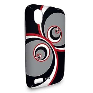 Handyschale Handycase für HTC Desire X veredelt mit YOUNiiK Styling Skin - The 7ties