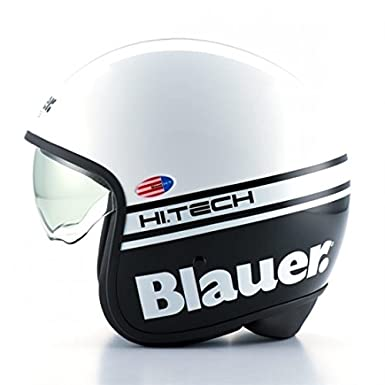 Casque blauer pilot blanc/noir brillant m - Blauer BLCJ106M