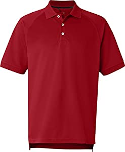 adidas - Golf ClimaLite Tour Pique Short Sleeve Polo - A108-Power Red/Black-L