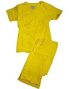 Natural Uniform Women Mock Wrap/Flare Pant Medical Scrub Set