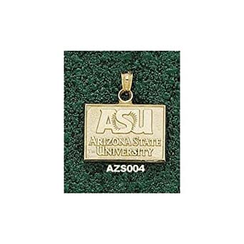 Arizona State Sun Devils ASU Pendant - 14KT Gold Jewelry by Logo Art