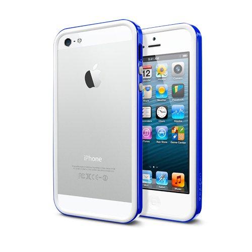 国内正規品・日本限定モデルSPIGEN SGP iPhone5 ケース ネオ・ハイブリッド EX スリム スノーシリーズ [ロイヤルブルー](WH) SGP10073