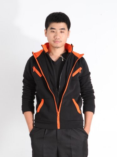 Xcoser Men's Fashion Casual Zip Up Hoodie Jacket Sweatershirt Costume Slim Fit