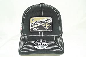 NEW New Orleans Saints NFC Champions 2009 Flex Fit Cap by NFL