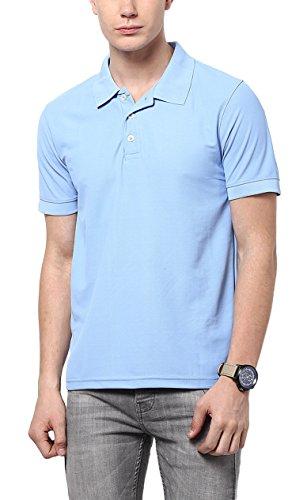 American Crew Men's Polo Polyester T-Shirt (AC139A-XXL_Vista Blue)