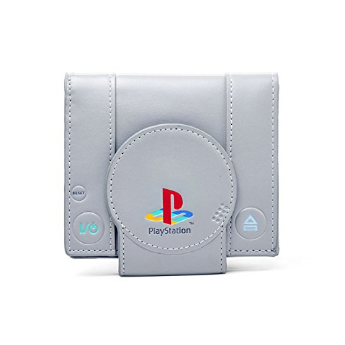 Playstation, Console Playstation One Design Retro messenger bag borsa a tracolla spaziosa Grigio ufficiale 36 x 26 x 8,5 cm
