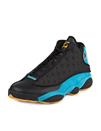 "Nike Mens Air Jordan 13 Retro CP PE ""Chris Paul"" Black/Sunstone-Orion Blue Leather"