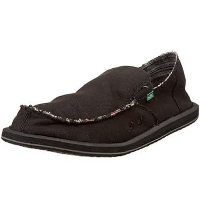 Sanuk Men's Hemp Slip-On,Black,15 M US