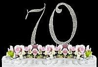 Rhinestone Cake Topper Number 70
