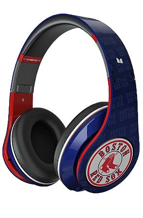 Beats by Dre The Boston Red Sox Studio Headphones in Navy & Red,Headphones for Unisex, One Size,Navy