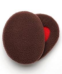 Earbags Bandless Fleece Ear Warmers,Large,Brown