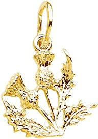 Rembrandt Charms Thistle Charm, 14K Y…