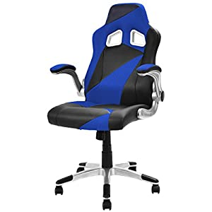 Giantex PU Leather Executive Racing Style Bucket Seat Office Chair Desk Task Computer