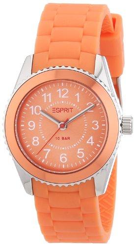 Esprit ES106424007 - Reloj analógico de cuarzo unisex con correa de resina, color naranja