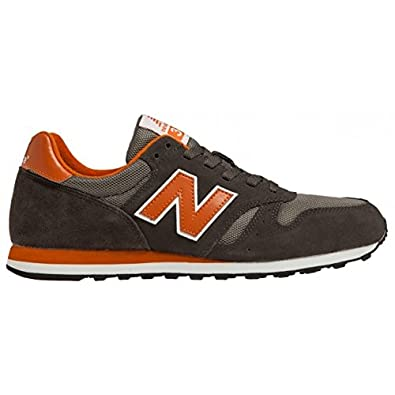 New Balance Men's M373 Classic Running Shoe,Grey/Orange,7 D US