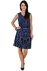 American Crepe Blue Dress (Large)