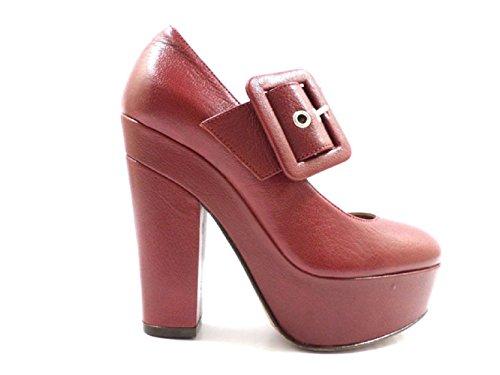 scarpe donna L'AUTRE CHOSE 39 decolte bordeaux pelle KY01