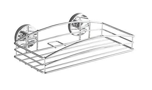 WENKO-20883100-Vacuum-Loc-Wandablage-Befestigung-ohne-bohren-Stahl-26-x-65-x-14-cm-Chrom