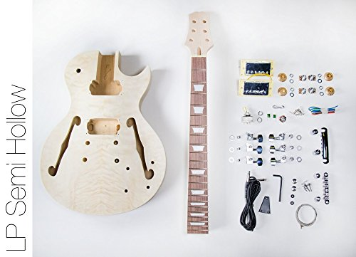 DIY Electric Guitar Kit ? LP Semi Hollow Build Your Own Guitar Kit (Semi Hollow Electric Guitar compare prices)