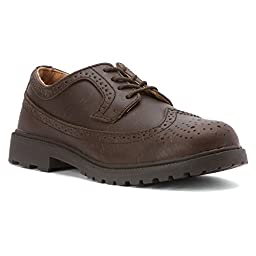 Florsheim Kids Valco Jr Oxford,Brown,10 M US Toddler (Toddler/Little Kid/Big Kid)