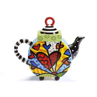 Romero Britto Ceramic Teapot, A New Day - 63 ounces (Britto Teapot compare prices)