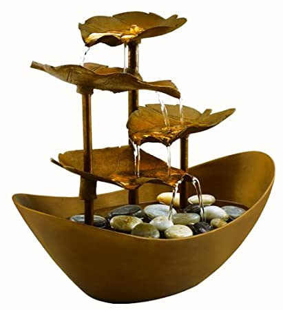 HoMedics WFL-GDN Envirascape Garden Leaves Illuminated Fountain