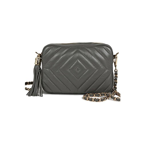 dearwyw-women-genuine-cow-leather-mini-diamond-quilted-square-cross-body-shoulder-bag-gray