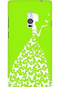 AMEZ designer printed 3d premium high quality back case cover for OnePlus 2 (bright green white girl princess)