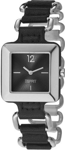 Esprit  Puro - Reloj de cuarzo para mujer, con correa de diversos materiales, color plateado