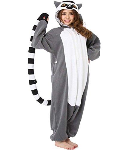 Erwachsene und Kinder Ring-tailed lemur Cosplay Kostüm Schlafanzug Jumpsuit Trainingsanzug