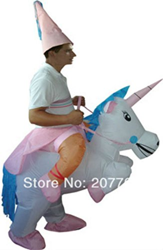 Funny Inflatable Riding Unicorn Halloween Costume Cosplay