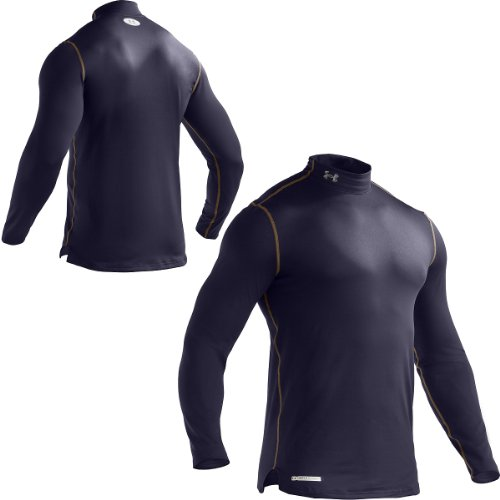 Cheap men 39 s coldgear fitted longsleeve mock tops by for Bulk under armour shirts