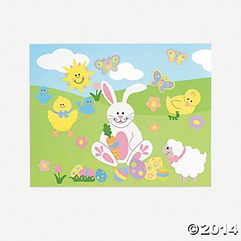 One Dozen Egg-Citing Sticker Scenes/EASTER Supplies