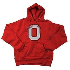 Ohio State Buckeyes Hooded Sweatshirt Applique Red by Elite Fan Shop