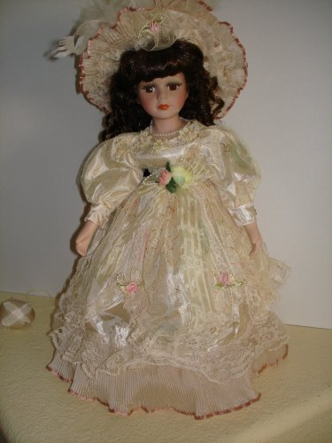 Porcelain Collector Doll, Light Yellow Dress - Buy Porcelain Collector Doll, Light Yellow Dress - Purchase Porcelain Collector Doll, Light Yellow Dress (Kinnex, Toys & Games,Categories,Dolls,Porcelain Dolls)