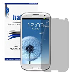 Halo Screen Protector HD Film Invisible (Clear) for Samsung Galaxy S3 S III Smartphone (AT&T, Verizon, Sprint, T-Mobile, US Cellular, Unlocked i9300, 3G GSM) (3-Pack)