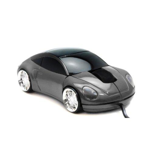 Computermaus LED Maus Auto Style Sportwagen Infrarot USB optische Maus in Grau 800dpi