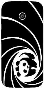 Snoogg Panda Circle 2520 Case Cover For Motorola E / Moto E