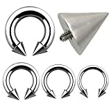 00G Internally Threaded Surgical Steel Horseshoe Spike - 5/8 - Sold as a Pair